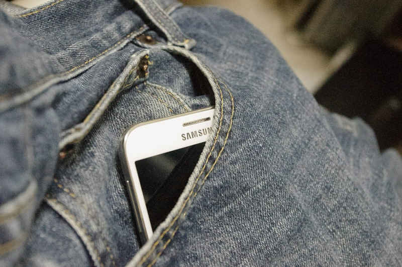 Android eSIM phone in pocket